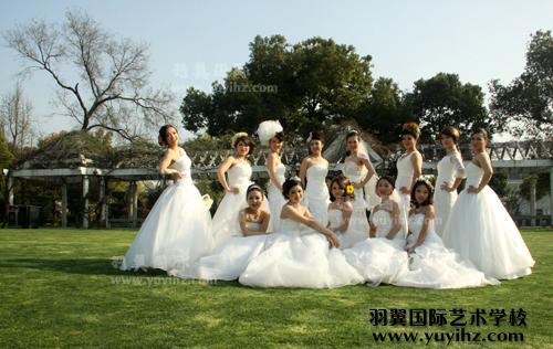 羽翼国际人物形象设计专业部分学员新娘造型集体